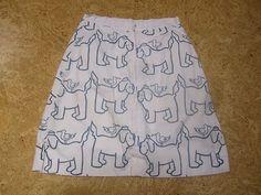 The Vested Gentress Vintage White Blue Sailor Dog Pelican Print Skirt Sz Mediu | eBay