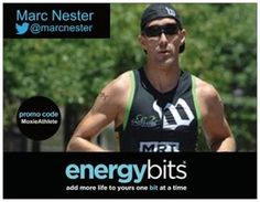 "MARC NESTER: Marc is an elite triathlete from Arlington, VA and is a member of the Moxie Triathlon Club. ""Too many times today people take supplements and things in which they have no idea what is really in them, only to find out that there was a banned substance in the supplement that they were taking. With ENERGYbits, there is no question what is in the product because it is all natural."""