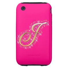Pink iPhone Case with Initial J