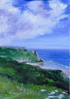 """Gower, South Wales~ 5x7 ~ oil on linen panel"" $50.00 - Original Fine Art for Sale - © Vincenza Harrity"
