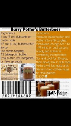 Easy microwave Butterbeer recipe from Harry Potter!