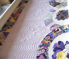 Interesting quilting to break up a large open area,  Beautiful!