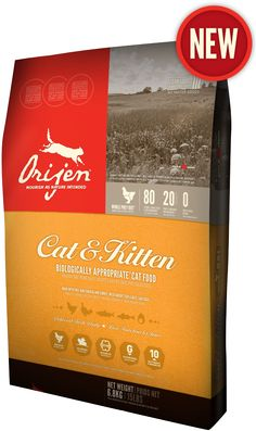 ORIJEN Cat & Kitten features unmatched inclusions of cage-free chicken and turkey, whole nest-laid eggs and wild-caught fish - all farmed or fished within our region and delivered to our kitchens FRESH each day, so they're brimming with goodness to nourish completely.