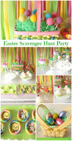 Easter Scavenger Hunt Party #Easter
