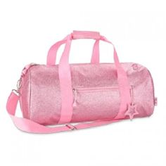 "This sparkalicious pink duffle bag by Bixbee is the must-have accessory for your little girl!  Great for dance, sports, or sleep-overs.  The bag measures 17"" wide x 9"" deep x 9"" high.  Features an adjustable over-the-shoulder strap, an exterior zip pocket"