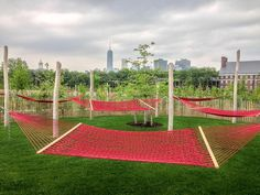 governors island NYC - serenity in a hammock.
