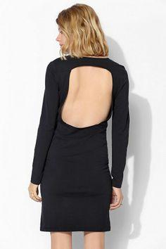 Glamorous Long-Sleeve Knit Open-Back Midi Dress #urbanoutfitters