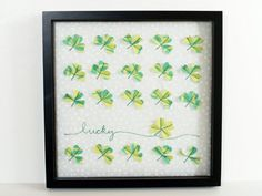 Fabric Lucky Clover Specimen Art