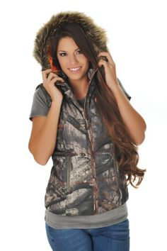 GWG Fur Vest covered in Mossy Oak Camo