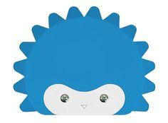 Cool wall hooks for kids:  Hedgehog!