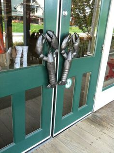 L.L.Bean Home Store is open 24-hours a day, seven days a week.  Check out our lobster door handles!