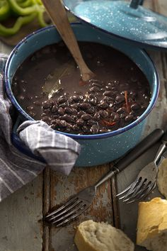 Luis' Cuban Black Beans   Salted and Styled