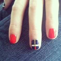 USMC nails. So pretty :D #usmc