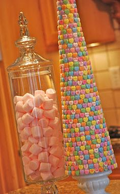 candy trees, sweet trees, diy crafts, candi, valentines day decorations, valentine decorations, heart tree, convers heart, parti