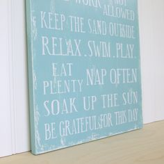Family Rules Wood Sign Cottage Rules Beach House by SignsofVintage, $70.00