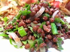 salade de lentilles aux 2 oignons et aux herbes | le blog de Lacath