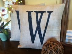 Burlap Pillow Cover  Decorative Pillow by SassafrasHome on Etsy, $18.00