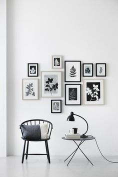 Leaf prints arrangement