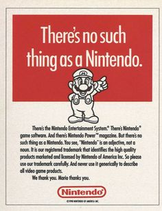 There's No Such Thing As A Nintendo.