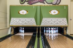 Vintage 1950s Equipment Restored for Retro Home Bowling Alley - midcentury - living room - minneapolis - Fusion Bowling