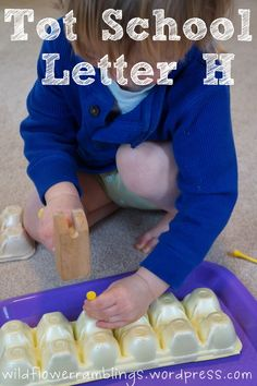 Tot School Printables Letter H is for Hammer from Wildflower Ramblings #totschool
