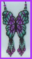 necklac pattern, peyotebrickcomanch pattern, bead butterfli, butterfli pattern