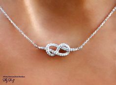 Infinity Knot Diamond Necklace...