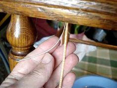 "Chair Caning How-to ~~ ""No-Knot"" System"