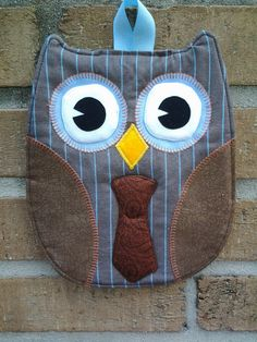 One Doctor Who Owl Hot Pad  Tenth Doctor by Timestitcher on Etsy, $12.50