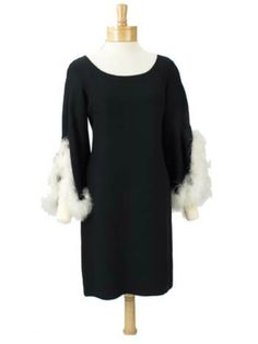 Marabou feathered dress! Ah-mazing!