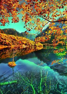 wonder lake, beauti place, amaz, lakes, natur, wonderful places, travel, photographi, china