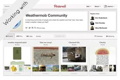 Managing the Pinterest presence of Weathermob mobile app
