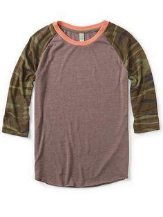 Printed Baseball Tee Shirt