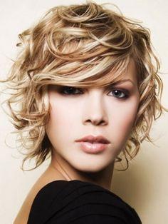 Medium Curly Layered hair