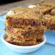 almond butter blondies (vegan)
