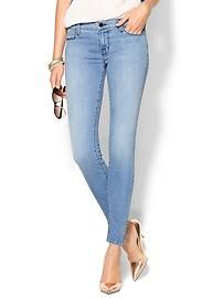 J Brand Mid Rise Super Skinny Jean