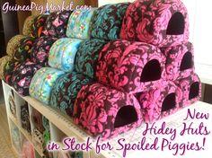http://www.guineapigmarket.com/hidey-hut  Hidey Huts!