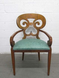 Pair Biedermeier Arm Chairs | From a unique collection of antique and modern armchairs at http://www.1stdibs.com/seating/armchairs/