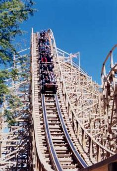 Excalibur Wooden Roller Coaster #TangledVacation2012