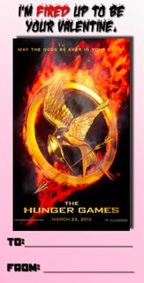 I'm fired up to be your valentine. - Hunger Games Valentine #HungerGames #Valentine