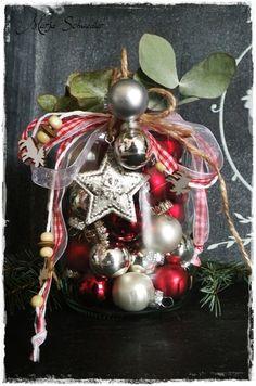 love this jar of ornaments, so cute