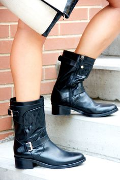Swooning over these #fabfound quilted booties from @marshalls {www.theclosetandthecook.com}