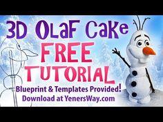 Free 3D Olaf Cake Tutorial - CakesDecor