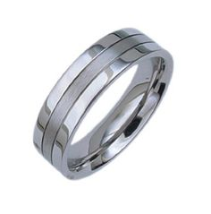 Comfort Fit~ Post Modern Stainless steel Man Wedding Promise Ring band