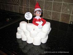 Marshmallow snowball fight!