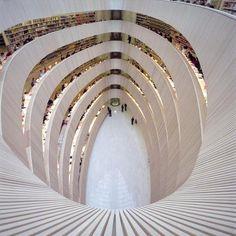 Santiago Calatrava, Law Library, University of Zürich, 2004. Switzerland.