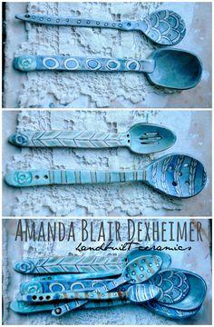 Amanda Blair Dexheimer Studio Porcelain Spoons
