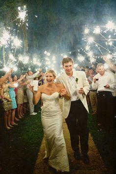 Gulf Coast Wedding - Backyard Wedding - Pure 7 Studios - Sparkler Send Off