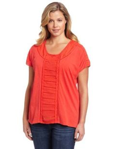 Lucky Brand Women's Plus Size Alice Cut Out Top