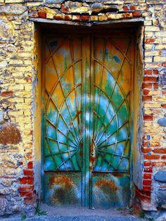 Tie-dyed door